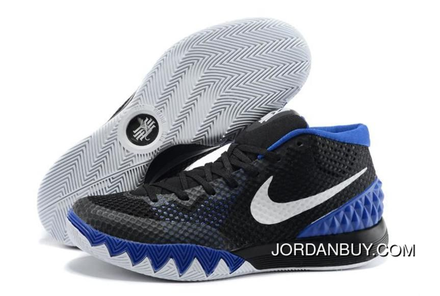 Cheap Nike Kyrie 1 2015 Black White Blue Basketball Shoes Sale Discount,  Price: - Air Jordan Shoes, New Jordan Shoes, Michael Jordan Shoes