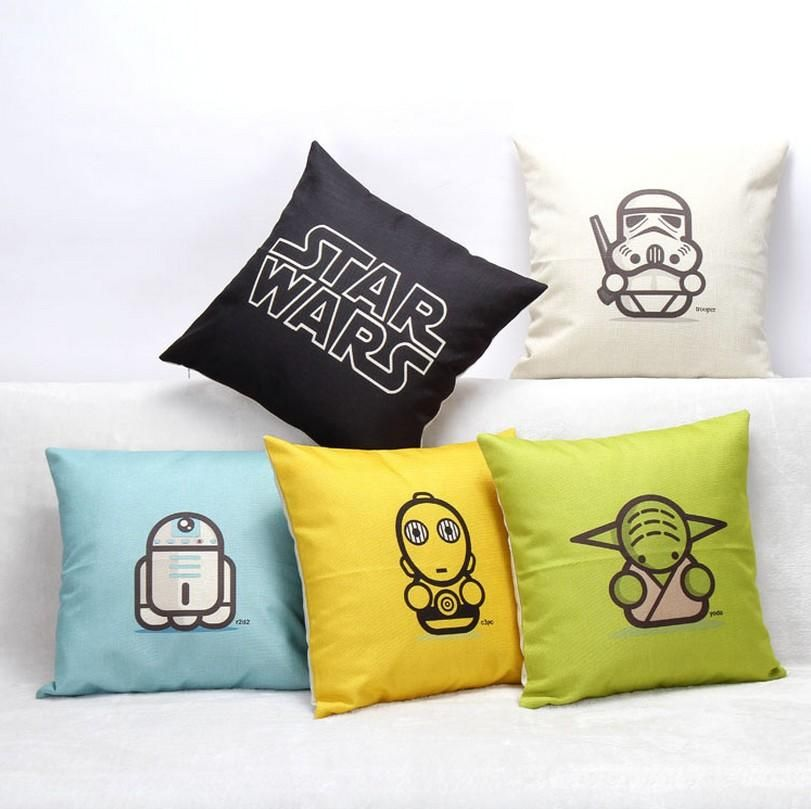 Cool 5 Styles Star Wars Cotton Linen Decorative Throw Pillow Case Creativecarmelina Interior Chair Design Creativecarmelinacom