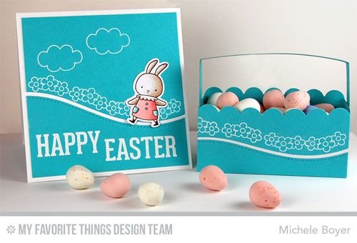 Somebunny, LJD Easter Bunny, Stitched Snow Drifts Die-namics, Treat Tote Die-namics - Michele Boyer #mftstamps