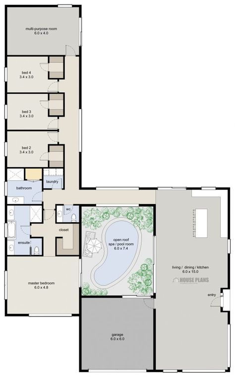 Pin By Katja Sintonen On Planos De Casas Container House Plans 4 Bedroom House Plans Bedroom House Plans