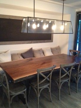 Live Edge Wood Slab Black Walnut Table Contemporary Dining Tables By Tree Green Team