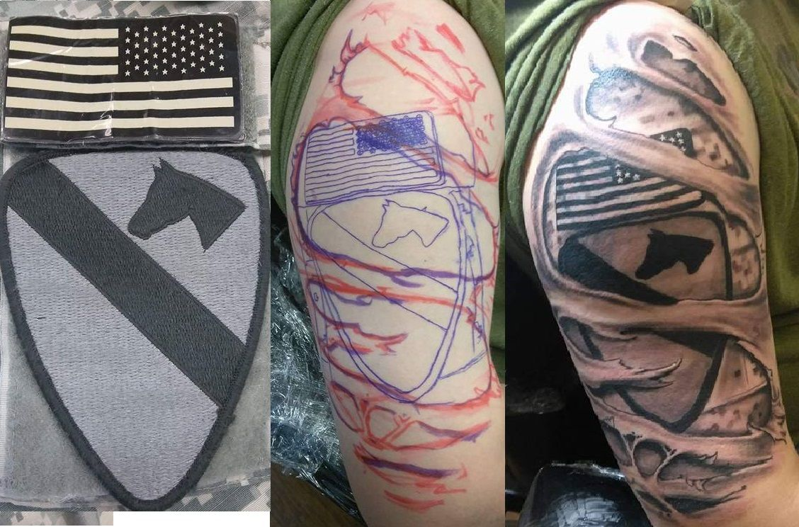 1st cav us army tattoo with images tattoos army