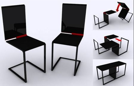 1 chaise + 1 chaise=1 table | console tables, consoles and bureaus