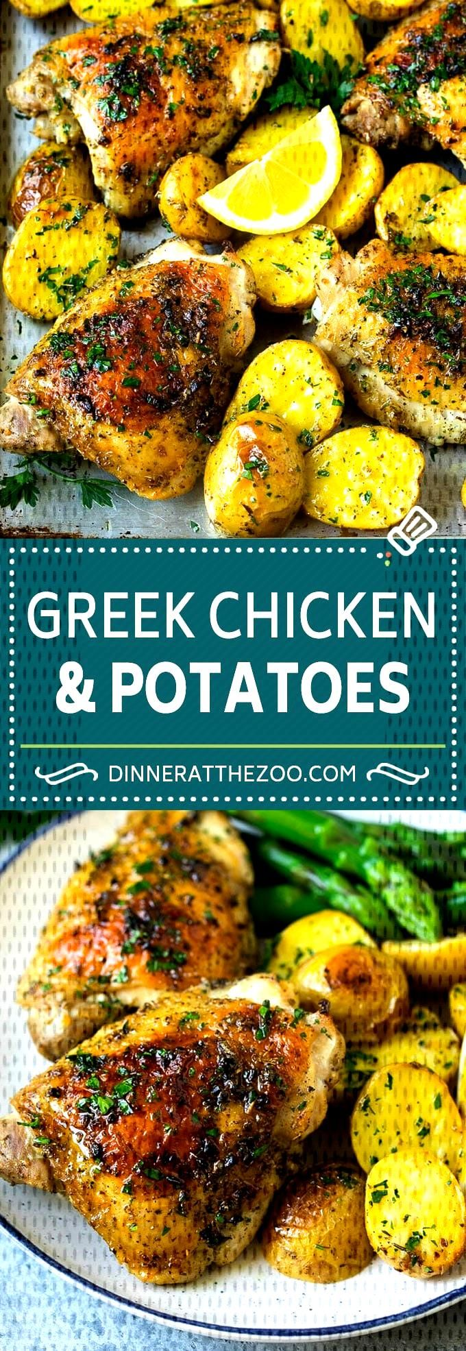 Greek Chicken and Potatoes