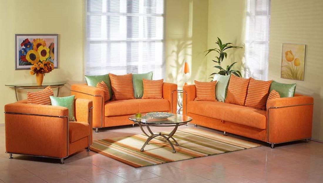 Modern Orange Leather Sofa Various Tips In Using