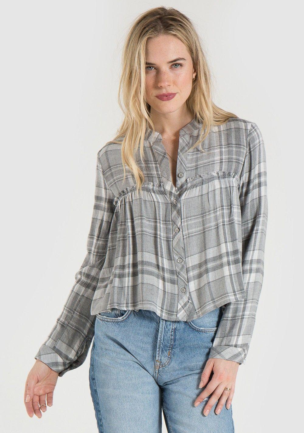 29b1585de Ruffle Button Down Shirt | Shop Fall 17 | Button down shirt, Ruffles ...