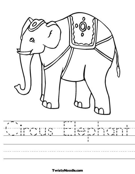 Writing for PreK | School - Circus | Worksheets, Coloring pages ...