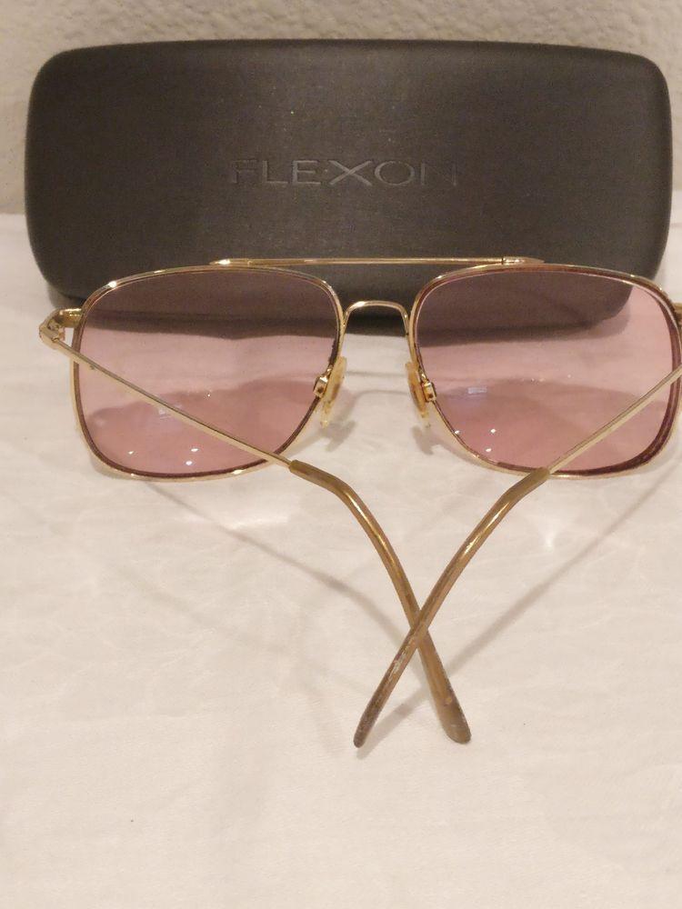 Marchon Flexon Aviator Eyeglass Frames Gold-plated 59-16-140