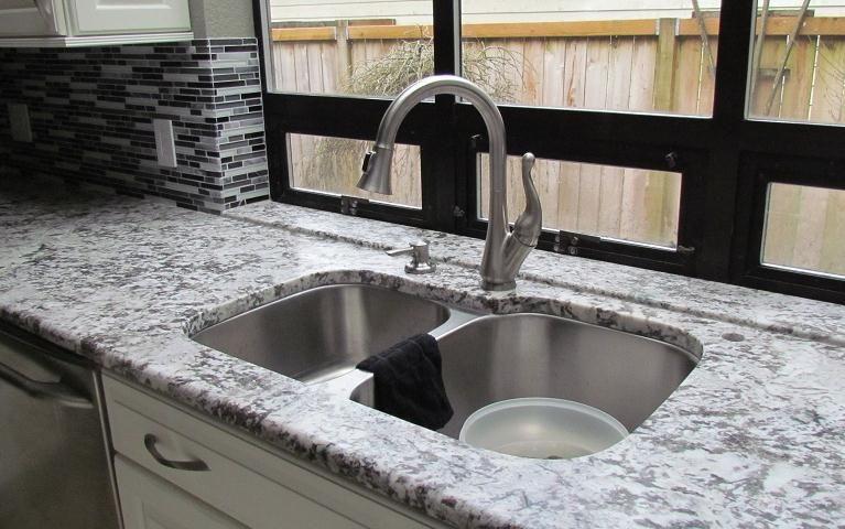 Bianco Antico Granite Stainless Steel Undermount Kitchen