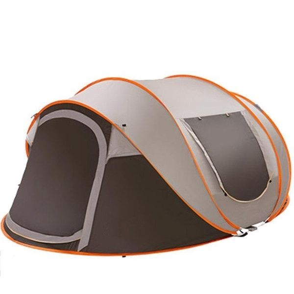 3-4/5-8 People Fully Automatic Instant Po p Up Tent Waterproof UV Outdoor Camping Without Stick