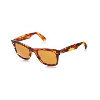 1baf58ab687 Ray-Ban Wayfarer RB2140 954 50-22 Unisex Tortoise Frame Brown Lens  Sunglasses