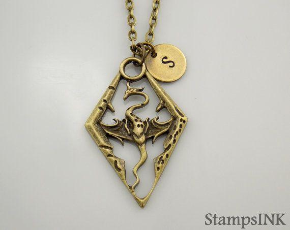 Dragon Necklace Dragon Jewelry Skyrim Necklace Skyrim Charm Jewelry Skyrim Dragon Skyrim Bronze Nec Dragon Jewelry Dragon Necklace Dragon Jewelry Necklace