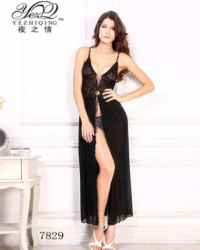 77f2bad896 Buy Romantic Bridal Sexy See Through Long Lace Nighty Shop In Pakistan.Buy  Sexy nightwear