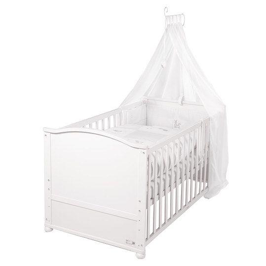 Roba Baby Komplett Bett Lukas Inkl Bettwäsche Himmel