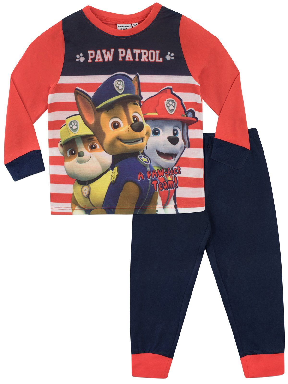 Boys Paw Patrol Snuggle Fit Long Pyjamas Sizes 18 Months to 5 Years