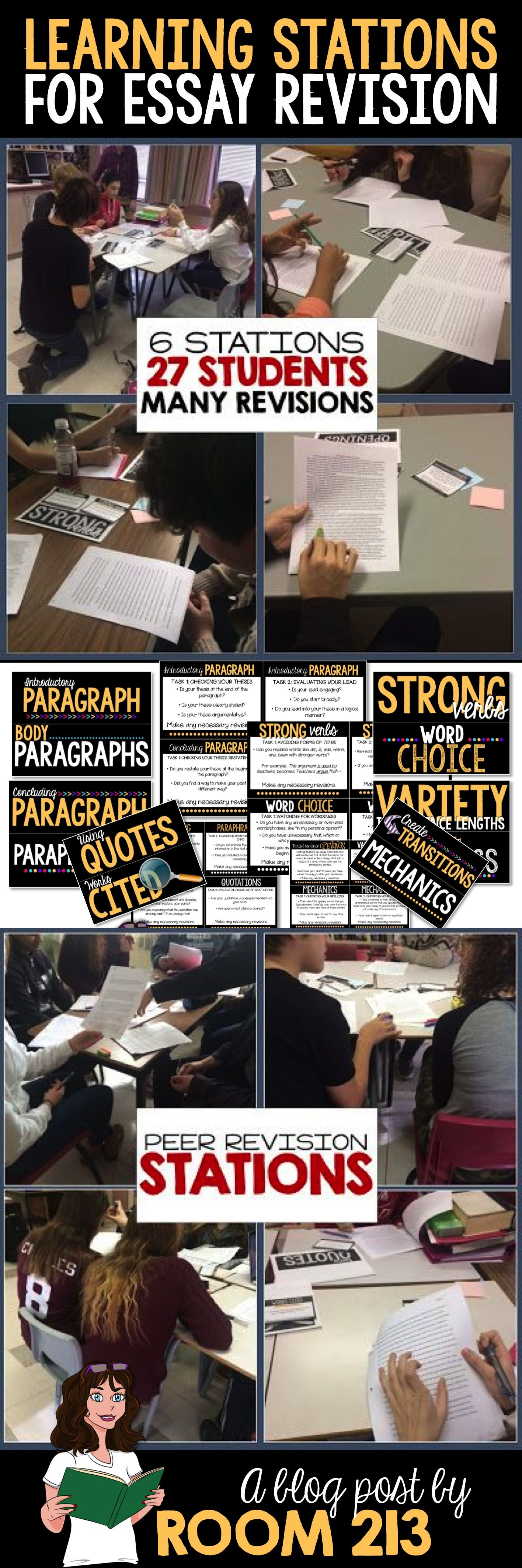 High School And Middle School English Focus On The Process And Use Revision Stations To Do So