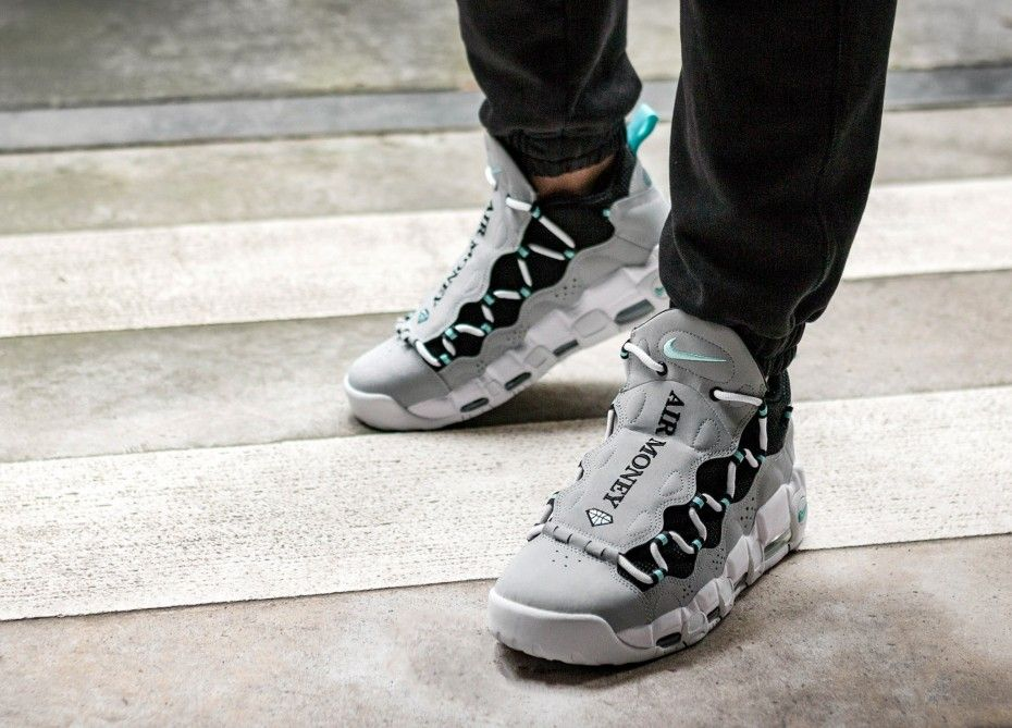 Nike Air More Money (Wolf Grey   Island Green - Black)   SNK Nike ... a9e1f10542