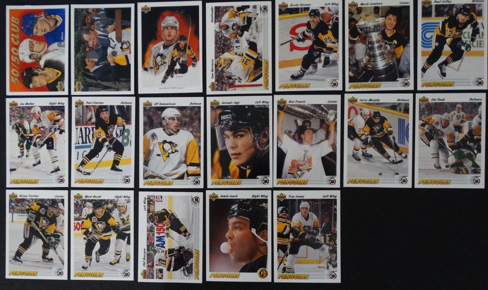 199192 upper deck ud pittsburgh penguins team set of 19