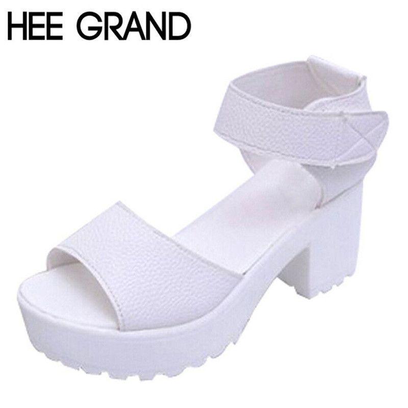 0d833d6384e6 HEE GRAND New Summer Pep-toe Woman Sandals