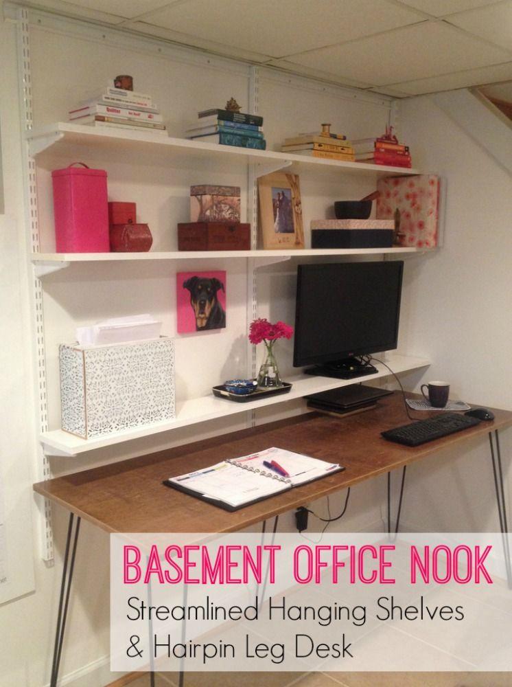Making Progress On My Basement Office Nook Office Nook Basement