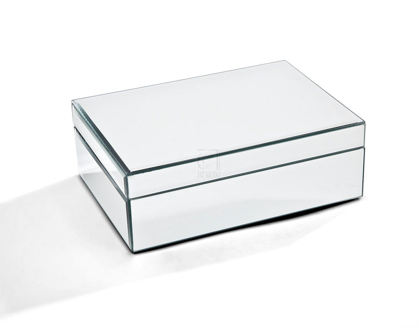Amazoncom Large Glass Jewelry Box Color Clear Mirrored Home