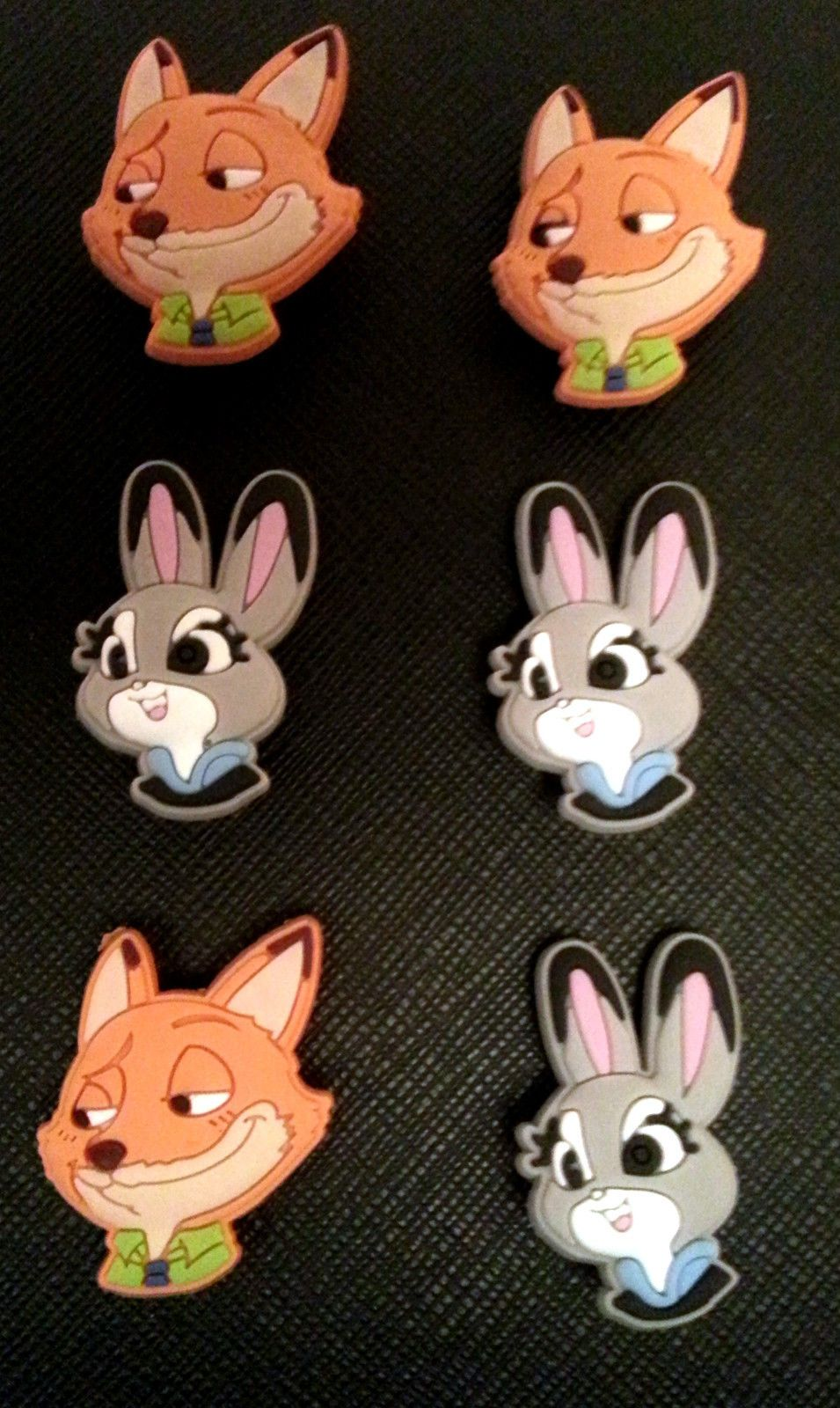 c05dfb699a3 Zootopia Croc Shoe Charms Jibbitz Wristbands Crocs Nick Wilde Judy Hopps.  Find this Pin and ...