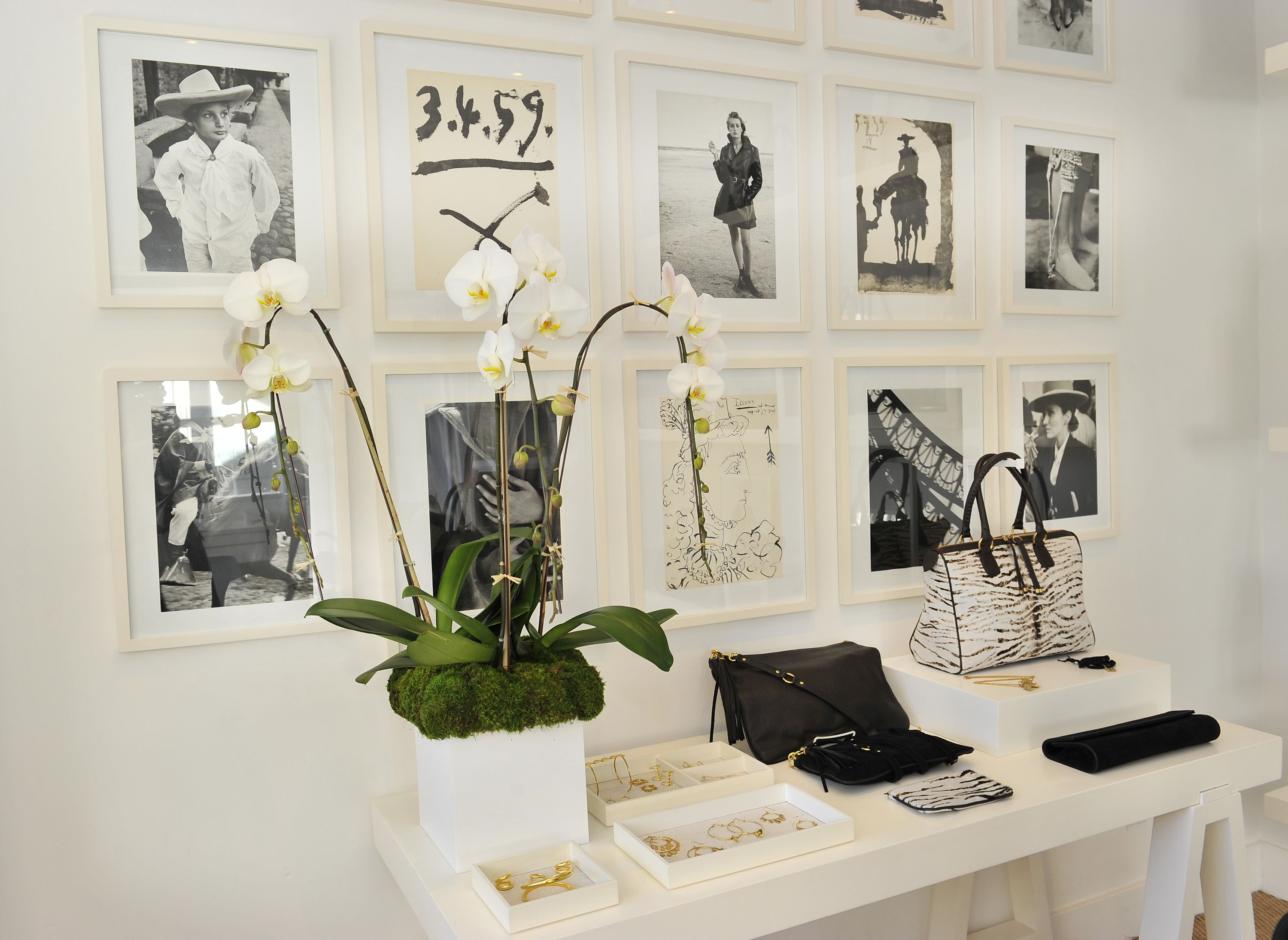 Kendall Conrad store ~ Brentwood Country Mart. White frames with ...