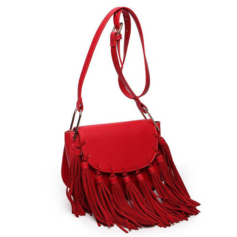 women famous brand tassel bag designer genuine leather bucket bag Matte crossbody bag high quality PU shoulder bags