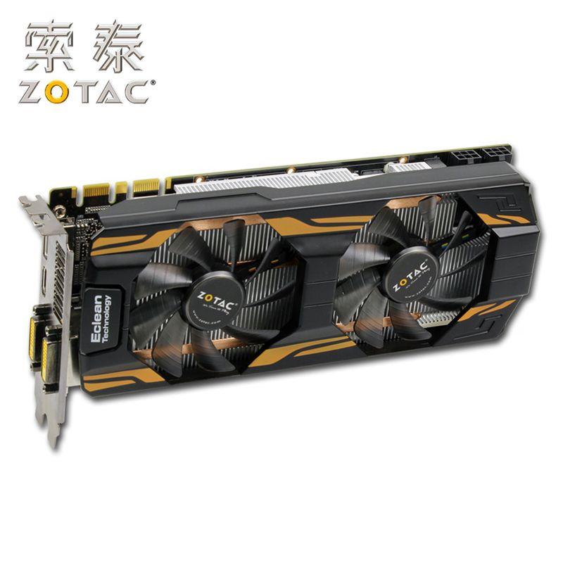 Cheap Offer For Original Zotac Geforce Gtx 760 2gd5 Graphics Cards For Nvidia Gtx760 2gd5 Ha 2g Gt700 Video Card 256bit Hdmi Dvi Used Gtx 760