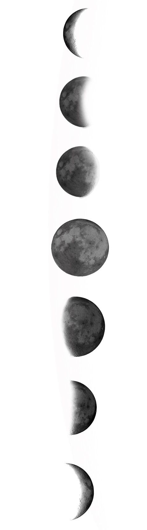 Phases of the moon temporary transfer tattoos by elvenchronicle