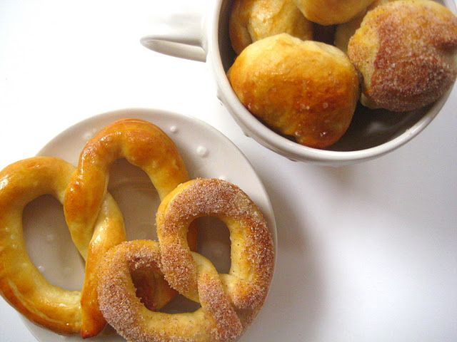 buttery (& cinnamon sugar) pretzels   Food and drink Food ...