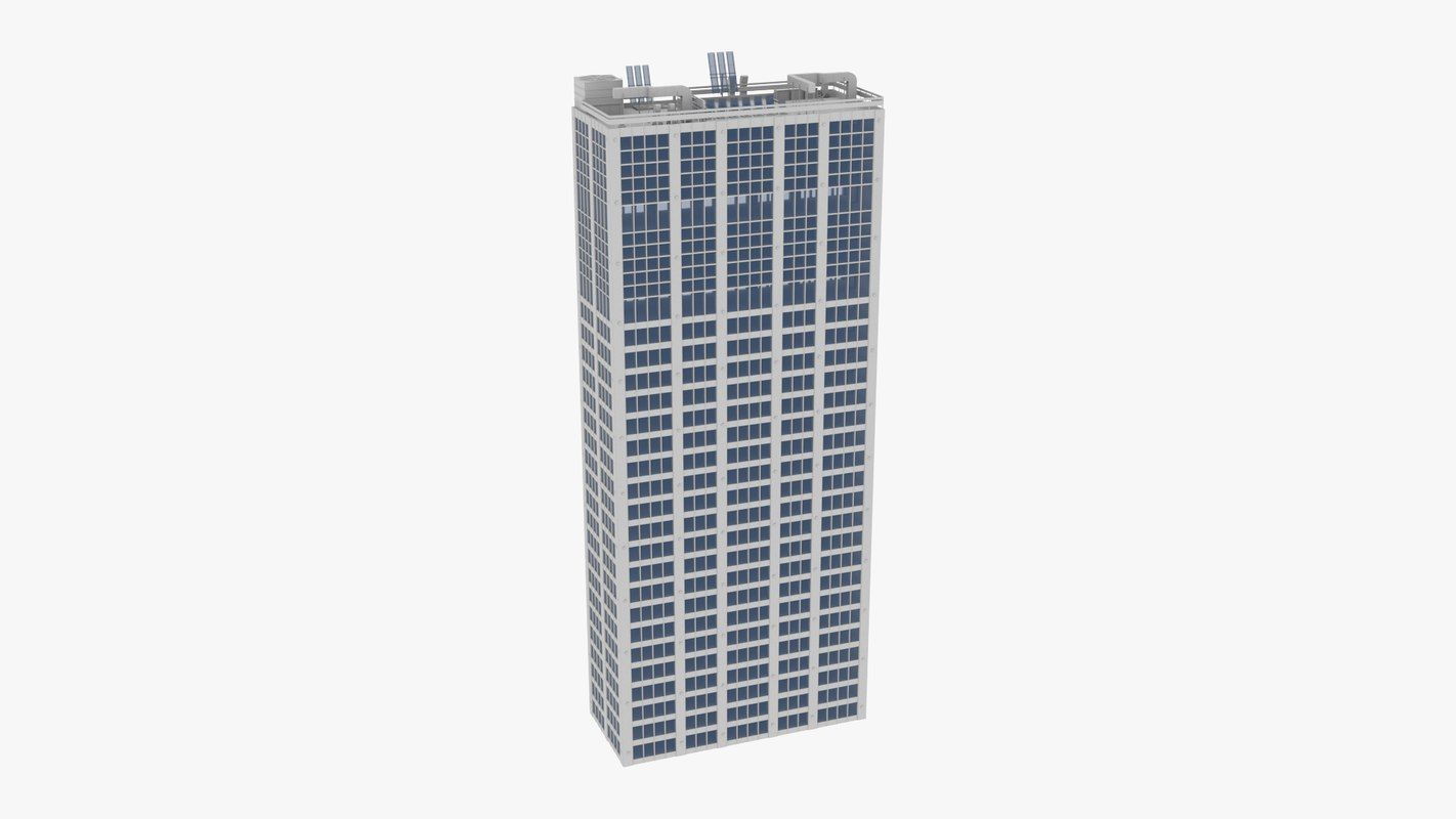 buildings kitbash condominiums skyscrapers 3D model | PBR 3D
