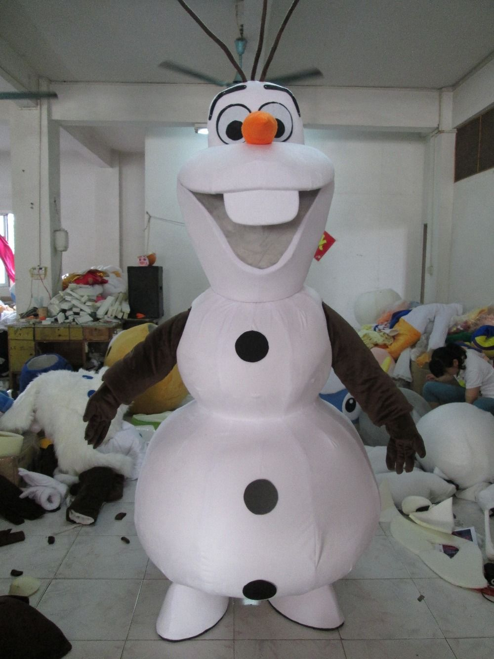 High Quality Party Smiling Olaf Mascot Costume Snowman Fancy Dress Adult EPE Material & High Quality Party Smiling Olaf Mascot Costume Snowman Fancy Dress ...