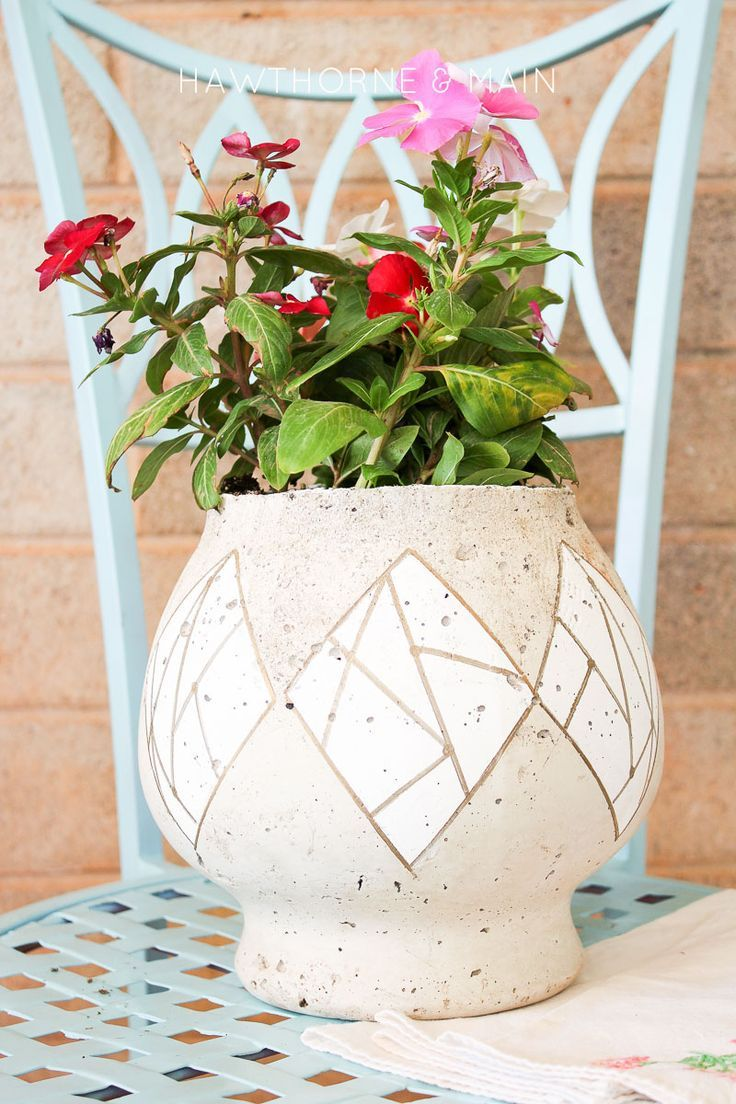 Cement flower pot cement flower pots flower pots diy gift