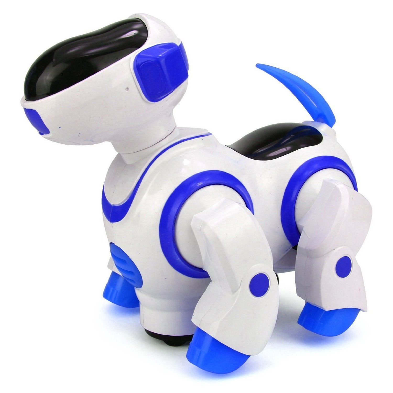 Watch this adorable battery operated dog immediately change
