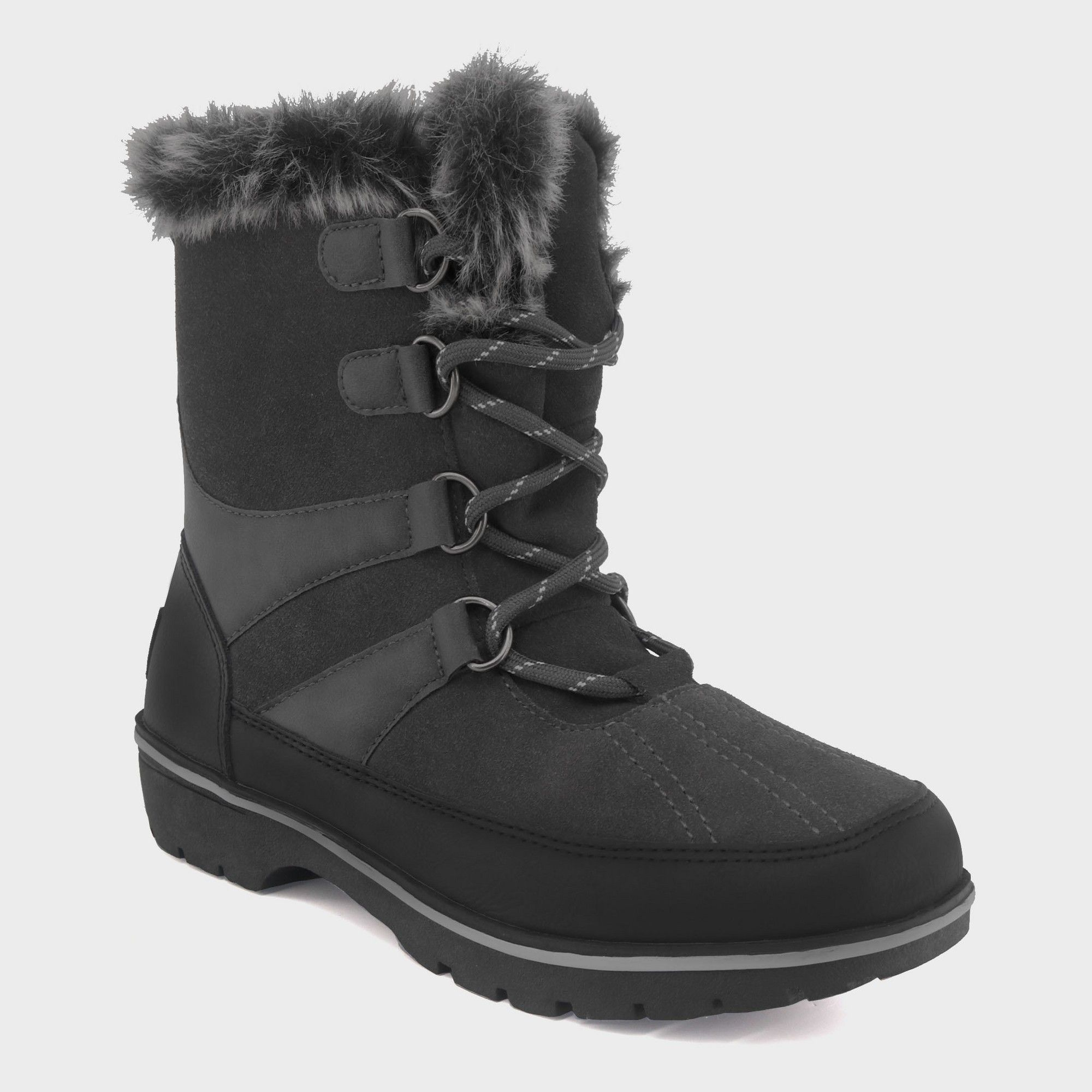 ae9d55da1ee9c Women's Ellysia Wide Width Short Functional Winter Boots - C9 Champion Gray  6W, Size: 6 Wide