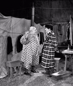 With Henry Bergman in an outtake from The Circus
