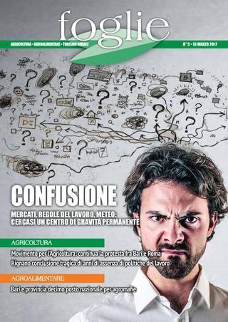 FOGLIE n.5/2017  AGRICOLTURA AGROALIMENTARE TURISMO RURALE