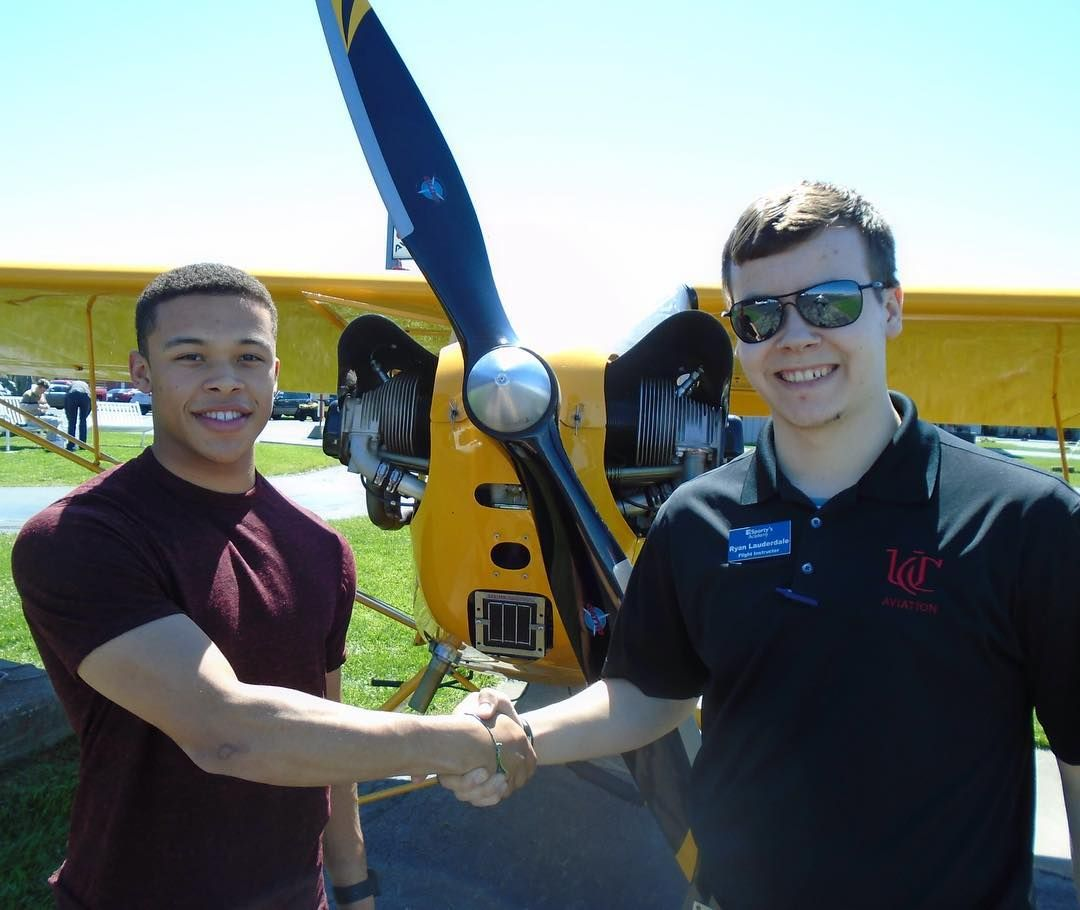 Chris Taylor Earned His Recreational Pilot Certificate On April 8