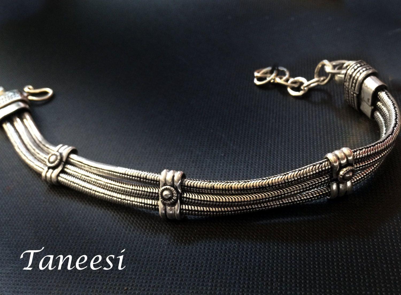 Men silver braceletman jewelryunisex jewelrygift for himsilver