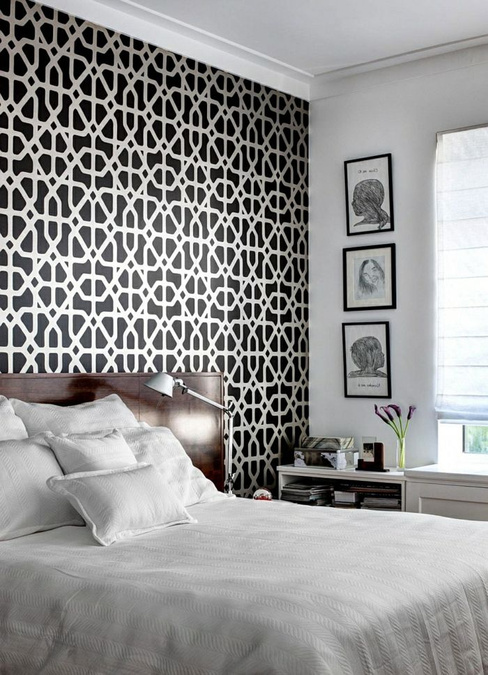 gallery of comment choisir le papier peint leroy merlin tapisserie noir et blanc with toile. Black Bedroom Furniture Sets. Home Design Ideas