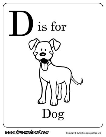 D Is For Dog Letter D Coloring Page Pdf D Is For Dog Alphabet Coloring Pages Letter A Coloring Pages