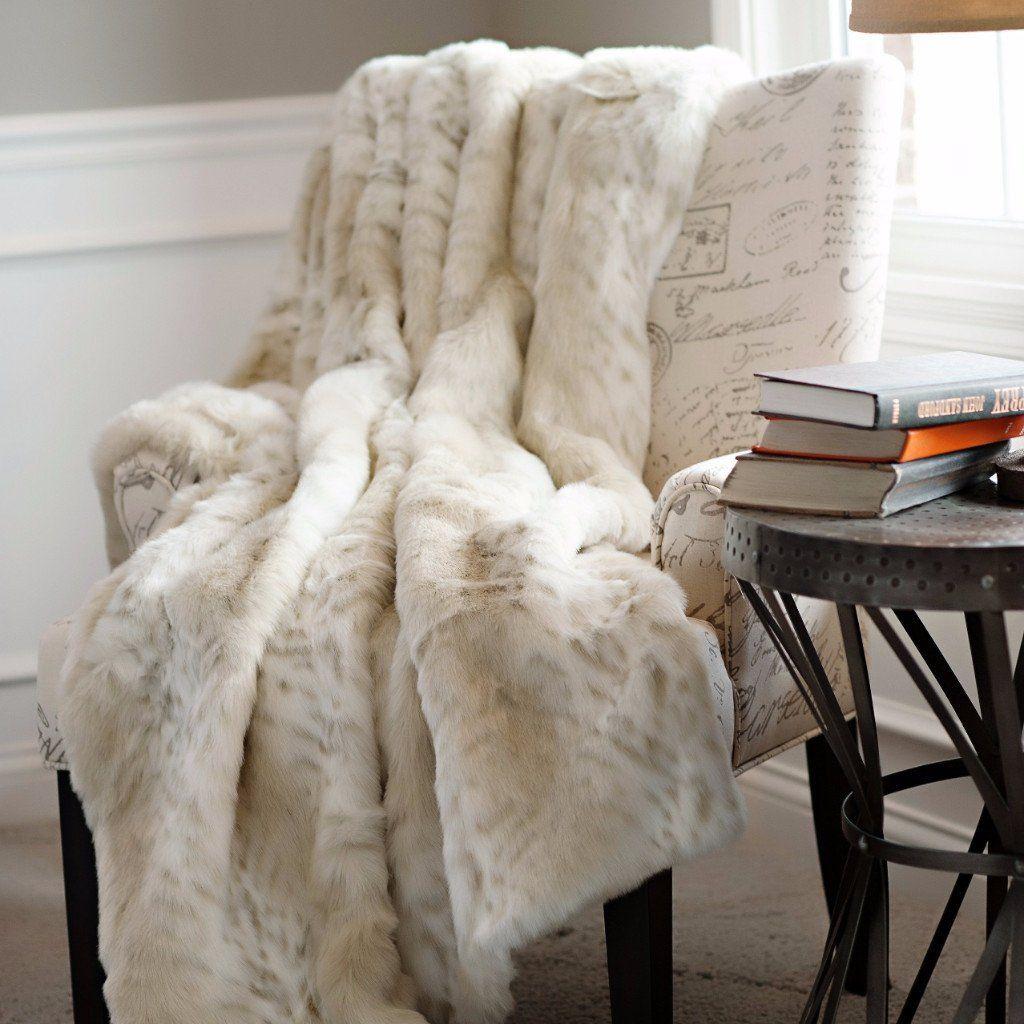 Lynx Limited Edition Faux Fur Throw Faux Fur Throw Blanket Faux