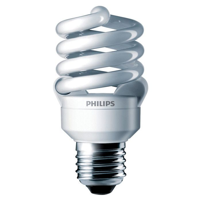 Philips 13w 120v Twist E26 3500k El Mdt2 Fluorescent Light Bulb Light Bulb Bulb