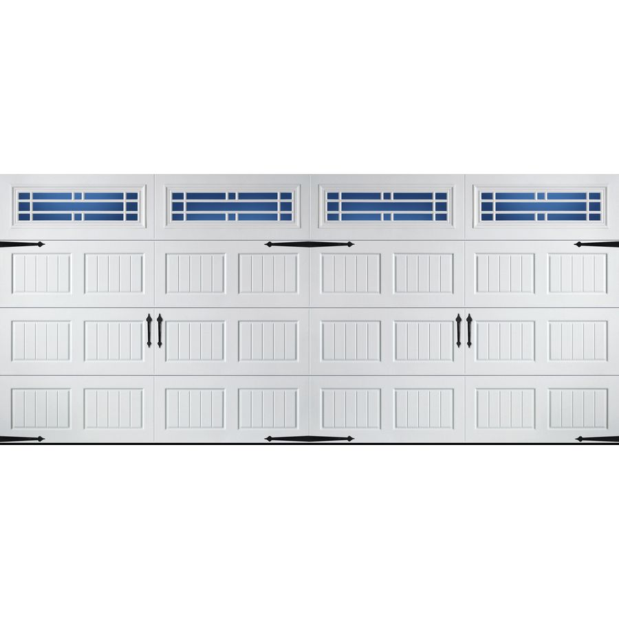 Merveilleux Pella Carriage House 192 In X 84 In Insulated White Double Garage Door With  Windows 123533