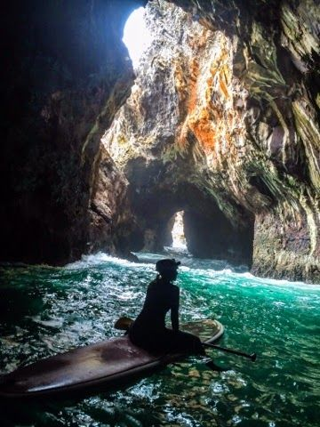 Free To Be: Adventure is Out There. Paddle Boarding into Sea Caves ...