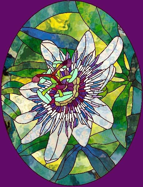 Myth And Symbolism Of The Passion Flower Passion Flower Stained Glass Flowers Flower Outline