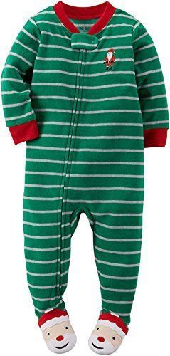 Carter's Baby Boys' 1-Piece Fleece Christmas PJs   Christmas ...