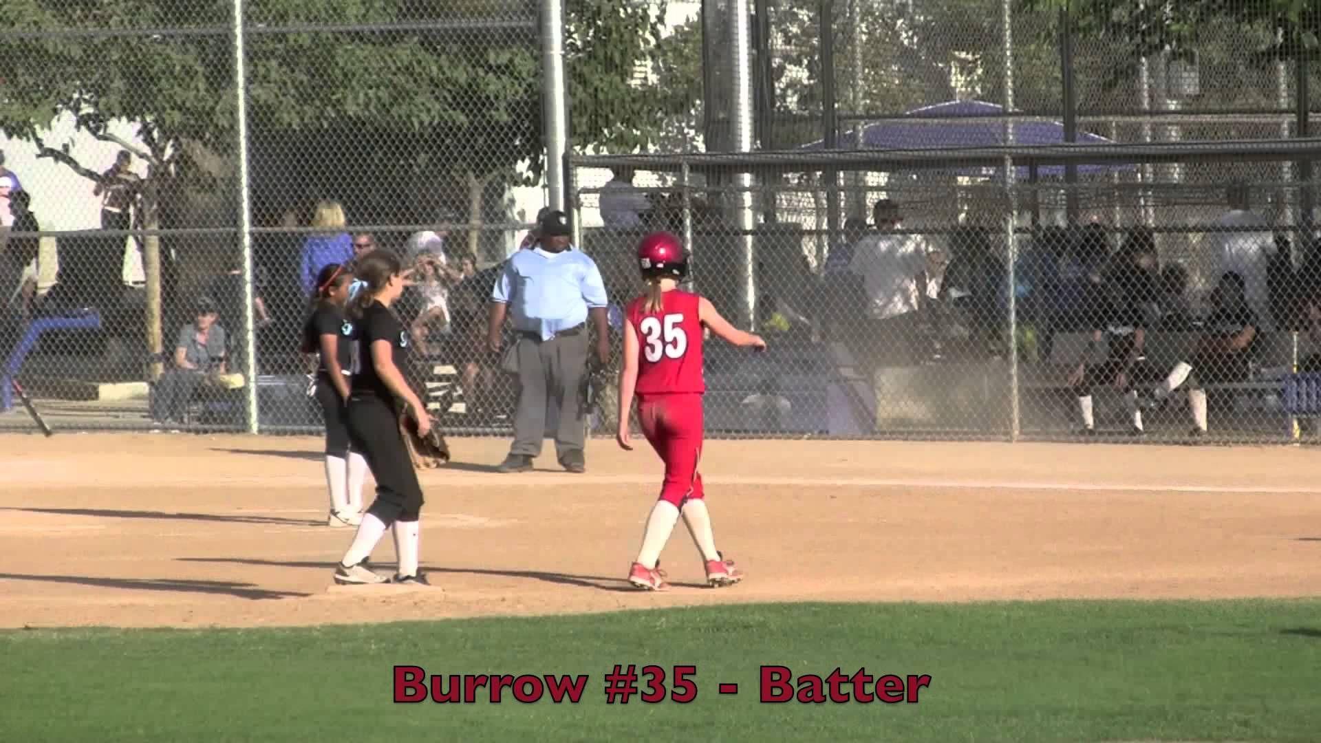 Emily Burrow 2 RBI Double, Steal 3rd & Home Vs Magic.Fast