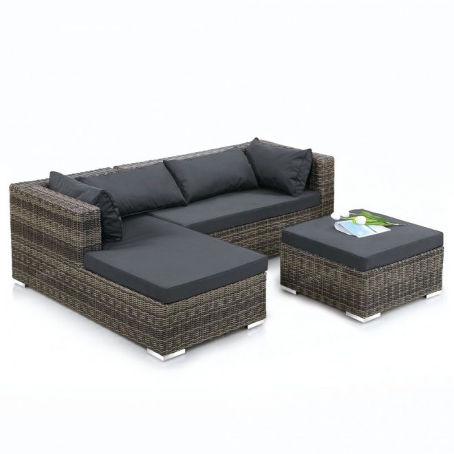 Outdoor Corner Sofa Set | Opnodes | Rattan garden corner ...
